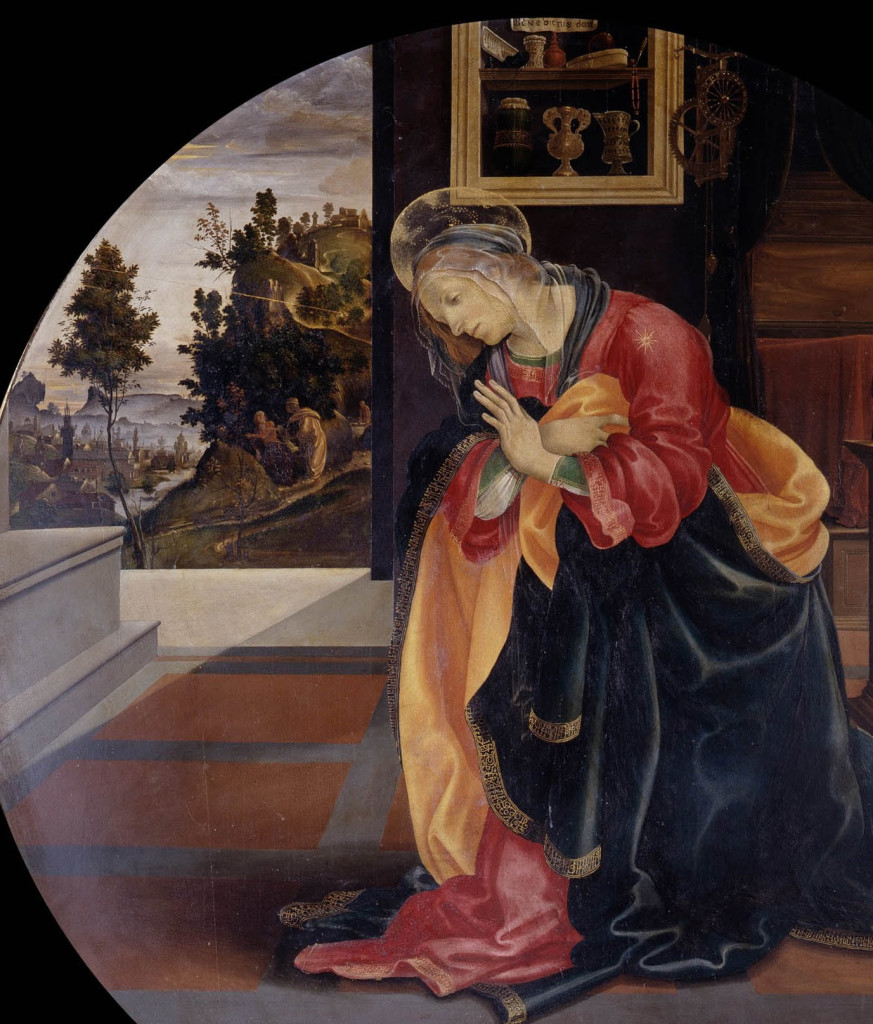 Filippino_Lippi_-_Annunciation_-_Google_Art_Project web solo la Vergine ritaglio