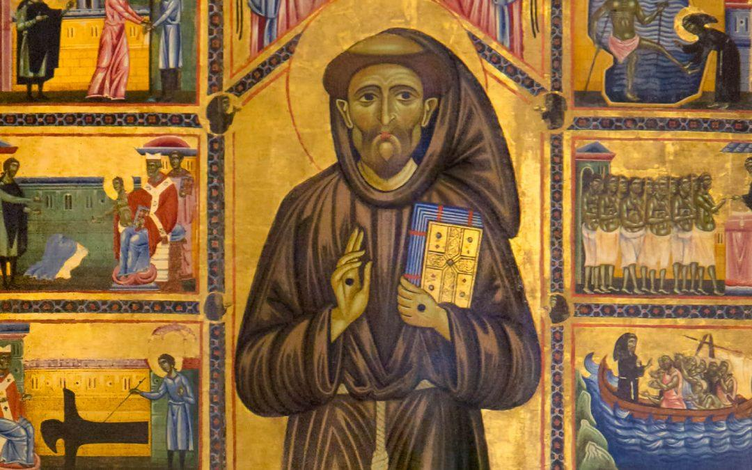 An ancient representation of Saint Francis to see in Florence