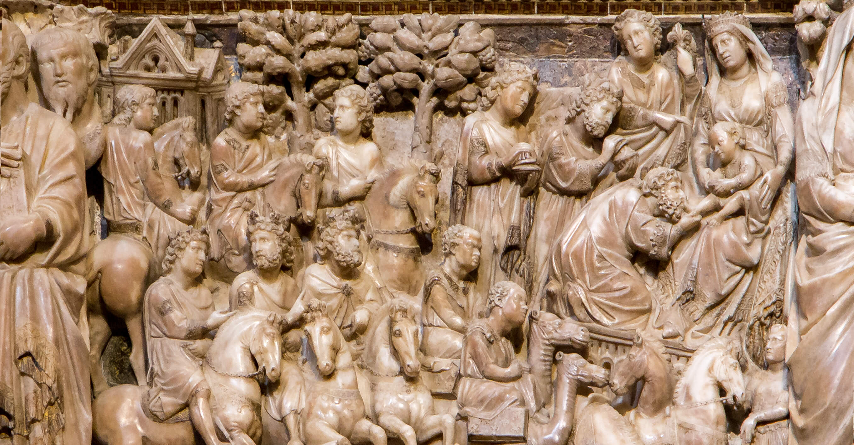 A masterpiece to see in the Siena Cathedral: the Adoration of Magi