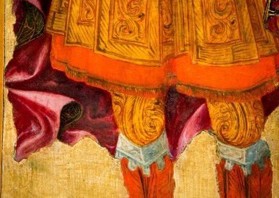 Details of St'Michael's armour and mantle in San Pietro Polyptych
