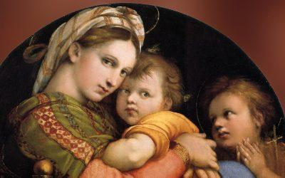 The Seggiola Madonna by Raphael Sanzio, the painter of 'happiness'